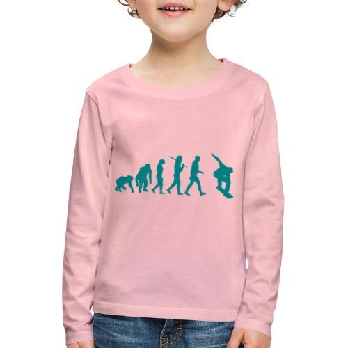 evolution_of_snowboarding - Kinderen Premium shirt met lange mouwen