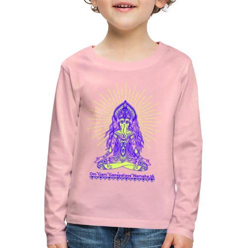 Yogafashion Hippie Ganesha dein Glücksgott - Kinder Premium Langarmshirt