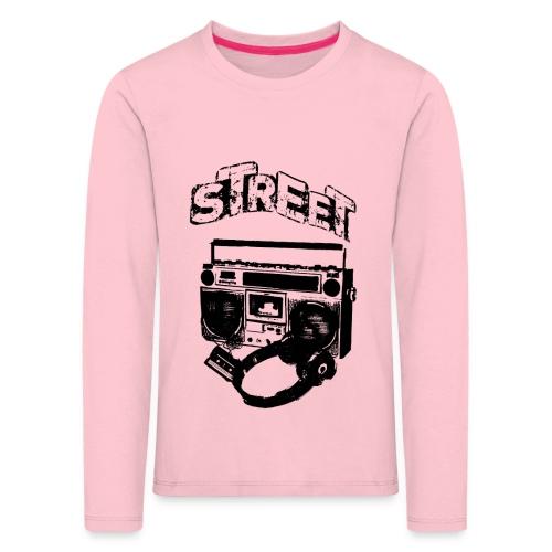 street 1 - Børne premium T-shirt med lange ærmer