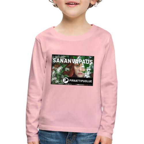 Sananvapaus - Lasten premium pitkähihainen t-paita