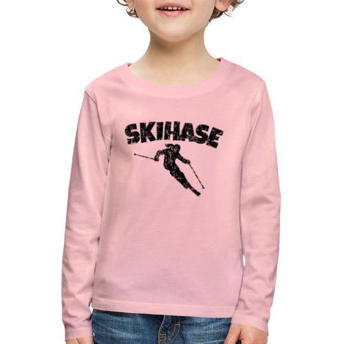 Skihase (Vintage/Schwarz) Ski Skifahrerin - Kinder Premium Langarmshirt