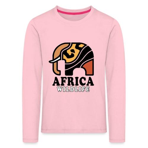 Elefant I AFRICA Wildlife - Kinder Premium Langarmshirt