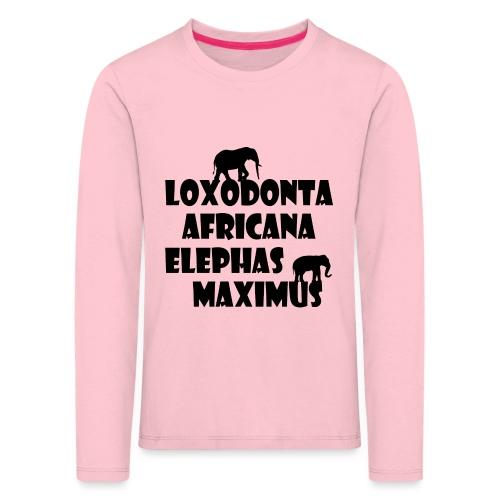 LOXODONTA AFRICANA - ELEPHAS MAXIMUS - Kinder Premium Langarmshirt