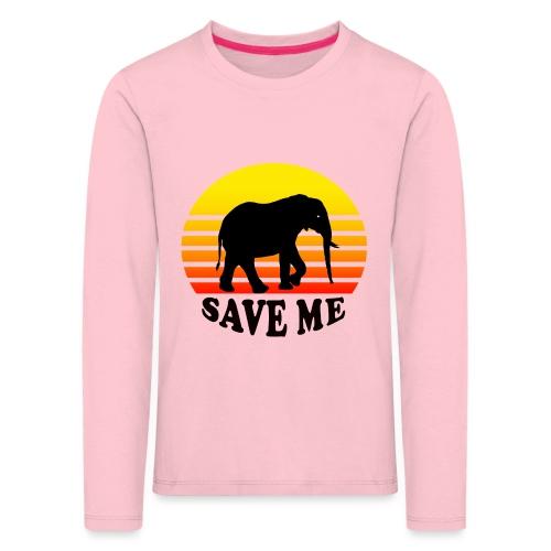 Elefant SAVE ME Schattenriss Sonne - Kinder Premium Langarmshirt