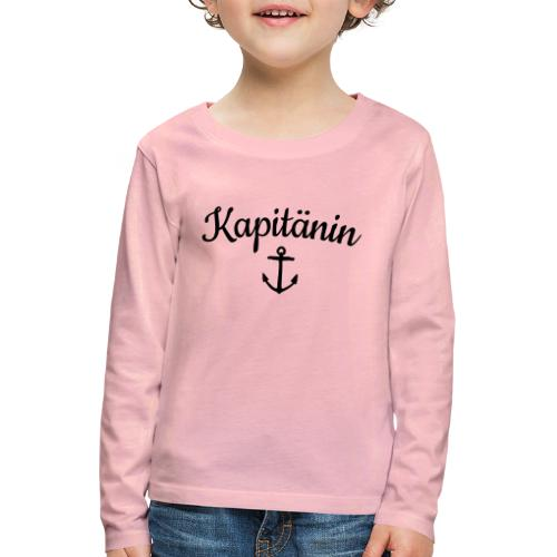 Kapitänin Anker Segel Käpt'n Segeln - Kinder Premium Langarmshirt