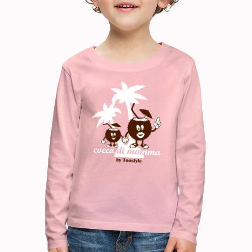 cocco di mamma tra le palme - Maglietta Premium a manica lunga per bambini