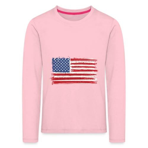 American flag - Kinderen Premium shirt met lange mouwen