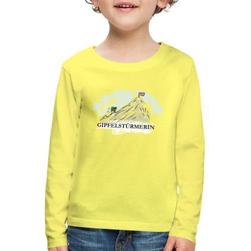 Gipfelstürmerin - Kinder Premium Langarmshirt