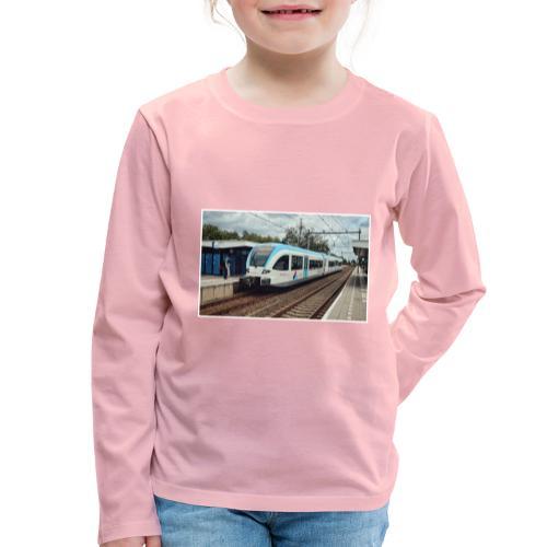 Regionale trein in Duiven - Kinderen Premium shirt met lange mouwen