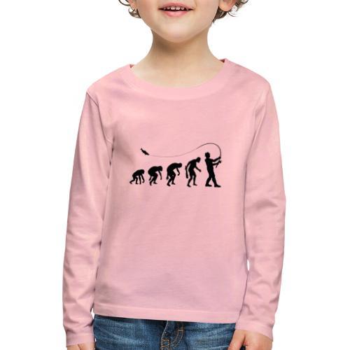 Evolution of fischers - Kinder Premium Langarmshirt