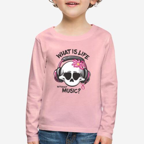 Musik ist Lebensschädel - Kinder Premium Langarmshirt
