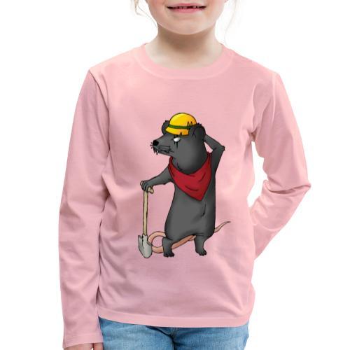 Arbeiter Ratte - Kinder Premium Langarmshirt