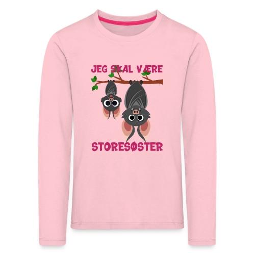 Jeg skal være storesøster flagermus gave fødsel - Børne premium T-shirt med lange ærmer