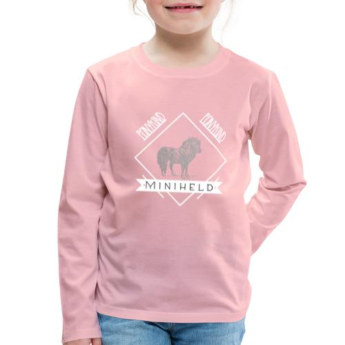Pony Miniheld - Kinder Premium Langarmshirt