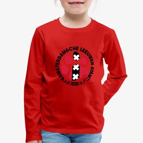 ALS witte cirkel lichtshi - Kinderen Premium shirt met lange mouwen