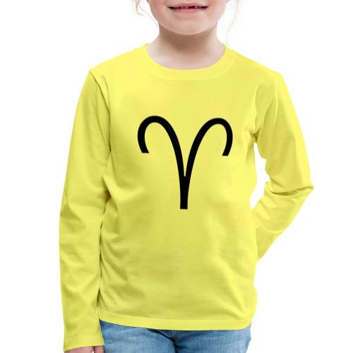 Widder - Kinder Premium Langarmshirt