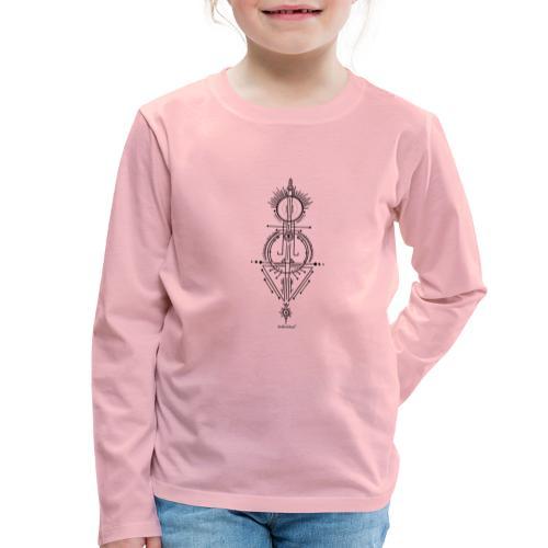 Sundream black - Kinder Premium Langarmshirt