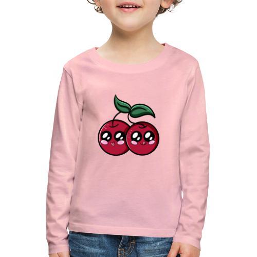 Cerises Kawaii ! - T-shirt manches longues Premium Enfant