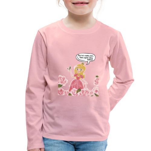 Liikaa kakkua - Lasten premium pitkähihainen t-paita