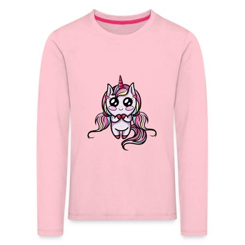 Licorne Kawaii - T-shirt manches longues Premium Enfant