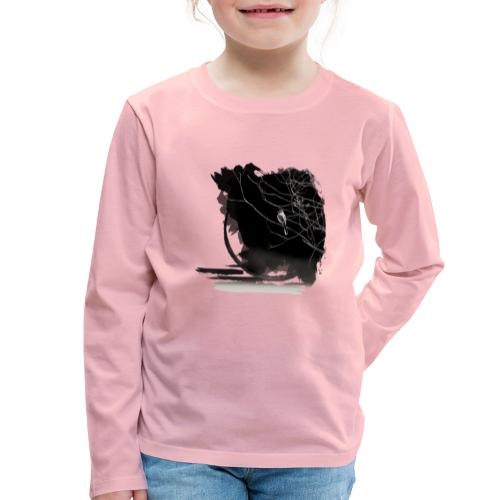 bird in zen circle above water bird on branch Zen - Kids' Premium Longsleeve Shirt