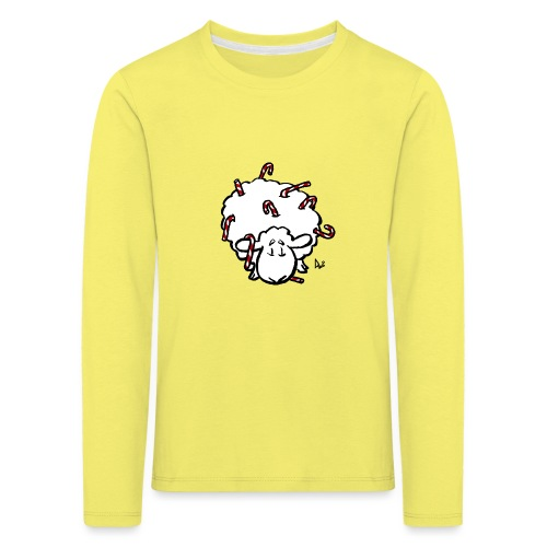 Candy Cane Sheep - Kids' Premium Longsleeve Shirt