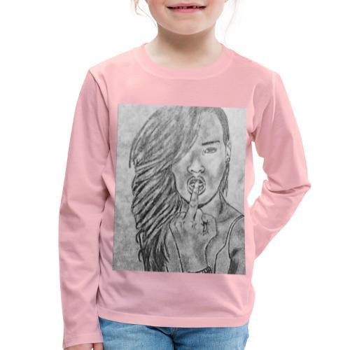 Jyrks_kunstdesign - Børne premium T-shirt med lange ærmer