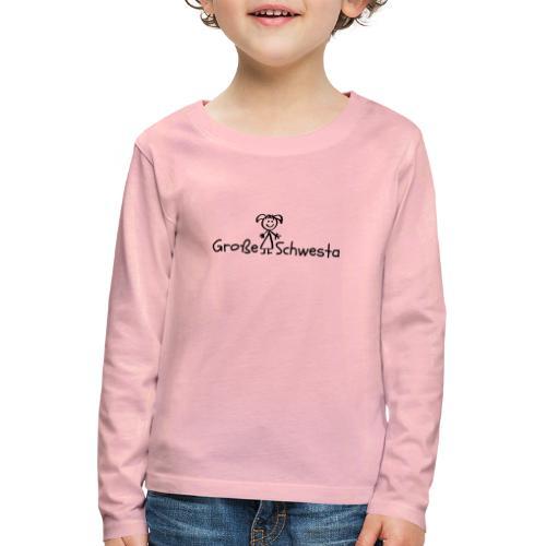 Vorschau: Grosse Schwesta - Kinder Premium Langarmshirt