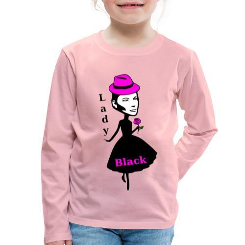 Lady Black Pink - Kinder Premium Langarmshirt