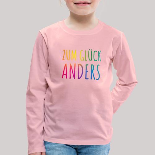 Zum Glück anders - Kinder Premium Langarmshirt