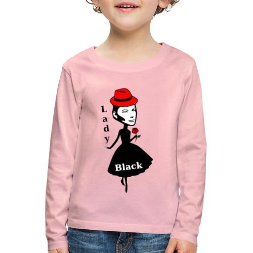 Lady Black/Rot - Kinder Premium Langarmshirt