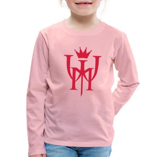 Logo MW Czerwone - Koszulka dziecięca Premium z długim rękawem