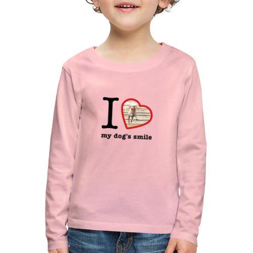 I love my dog's smile :) dog smile - Kids' Premium Longsleeve Shirt