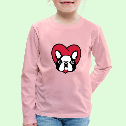 Cœur de Bouledogue Français - T-shirt manches longues Premium Enfant