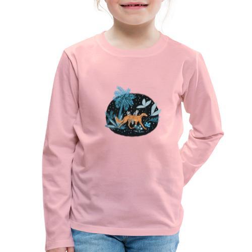 Saluki im Tropenwald - Kinder Premium Langarmshirt