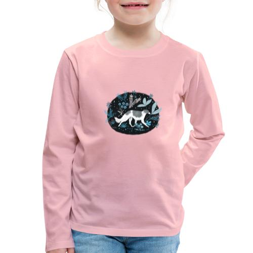 Barsoi im Mitternachtswald - Kinder Premium Langarmshirt