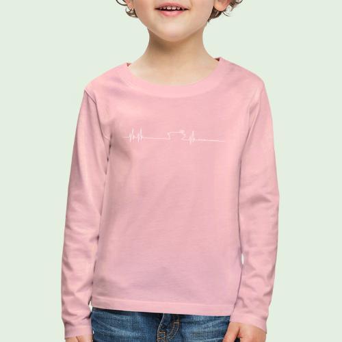 Herzschlag - Kinder Premium Langarmshirt