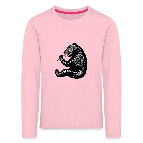 Panda skelet - Kinderen Premium shirt met lange mouwen