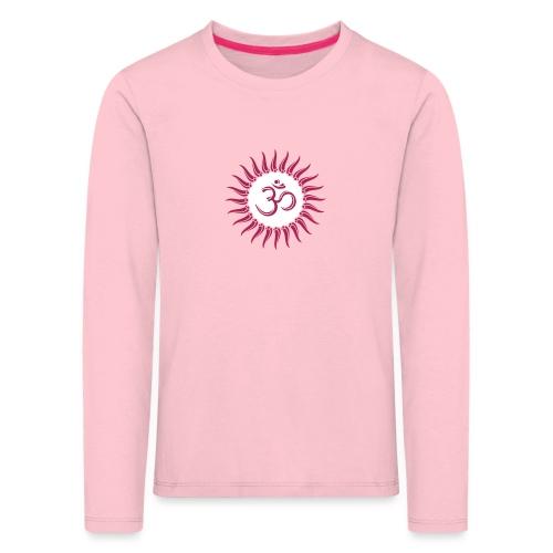 Om Sonne, Buddhismus, Yoga, spirituell, Meditation - Kinder Premium Langarmshirt
