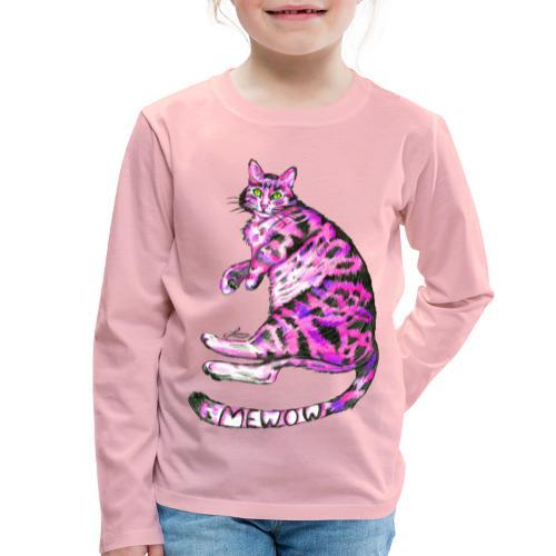 Pink Cat - Kinder Premium Langarmshirt