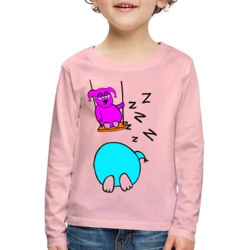 Pöllyskäinen - Lasten premium pitkähihainen t-paita