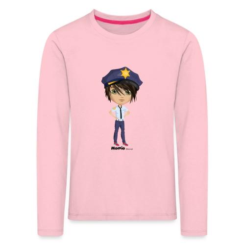 Momio police - Koszulka dziecięca Premium z długim rękawem