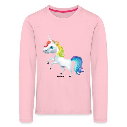 Tęczowy jednorożec - Koszulka dziecięca Premium z długim rękawem