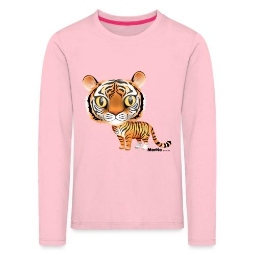 Tiger - Premium langermet T-skjorte for barn