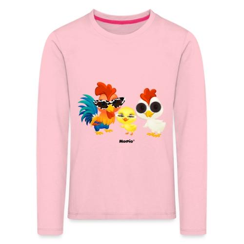 Kurczak - autorstwa Momio Designer Emeraldo. - Koszulka dziecięca Premium z długim rękawem