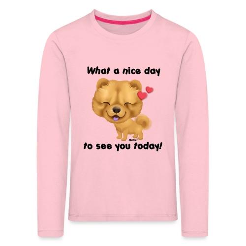 Nice day by Niszczacy - Premium langermet T-skjorte for barn