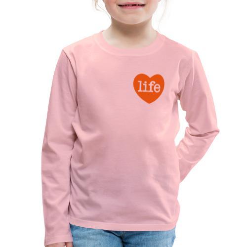 LOVE LIFE heart - Kids' Premium Longsleeve Shirt