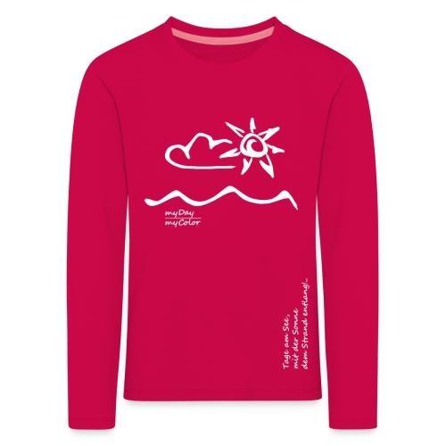 Dem Strand entlang!.. - Kinder Premium Langarmshirt