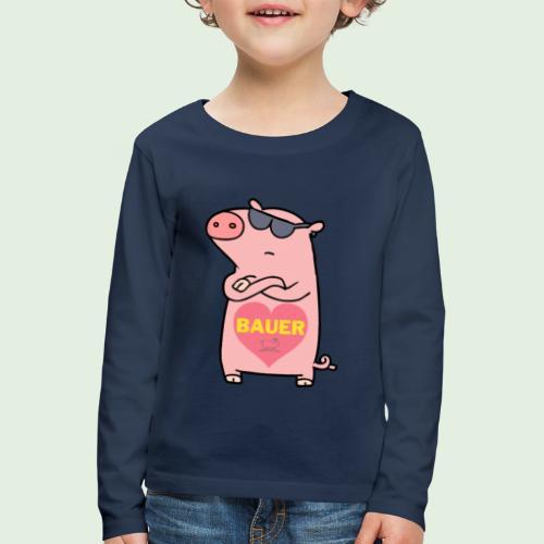 Ich liebe Bauer - Kinder Premium Langarmshirt