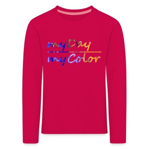 myDay Schriftzug - Kinder Premium Langarmshirt